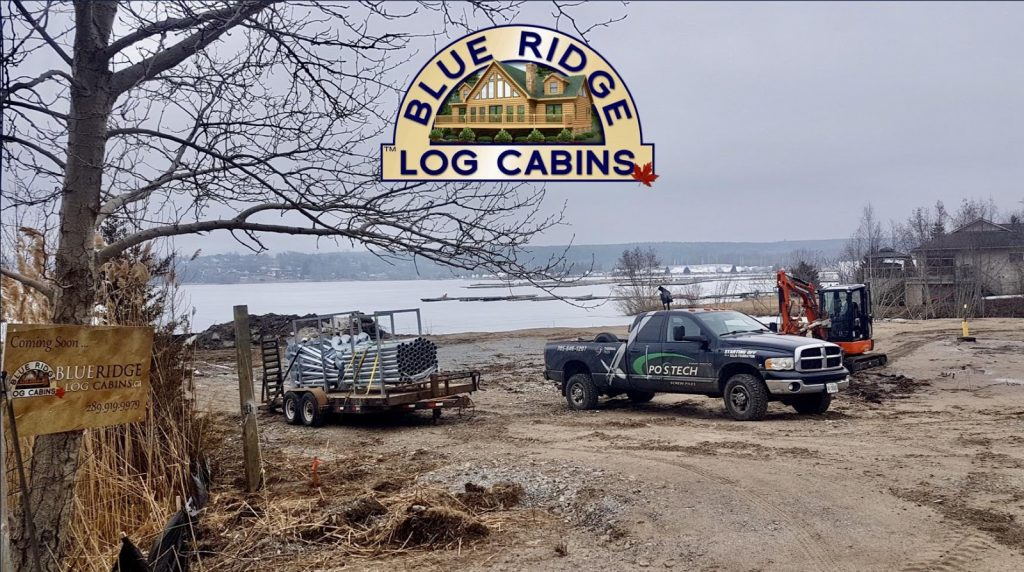 Blue Ridge log cabins construction site