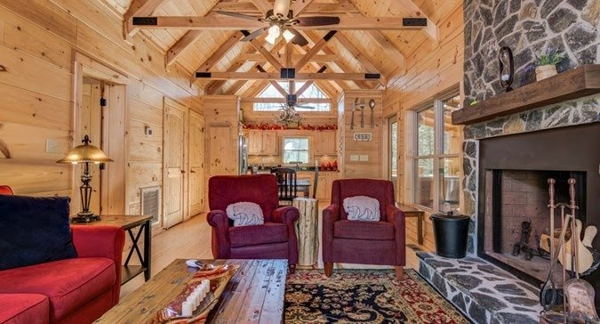 Blue Ridge Log Cabin interior