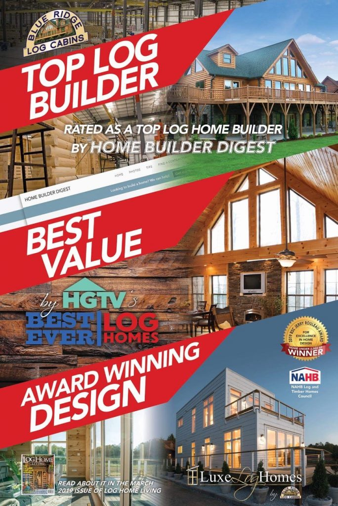 Blue Ridge Log Cabins Top Builder banner